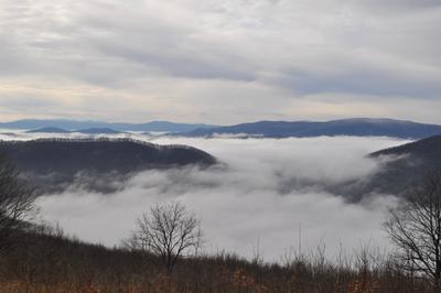 Утром в горах... Туман утро горы