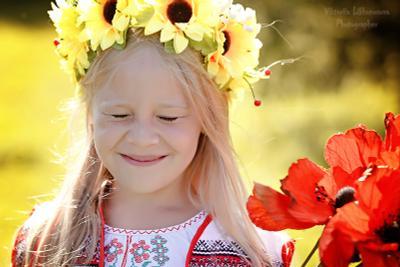Солнечное настроение солнце девочка лето