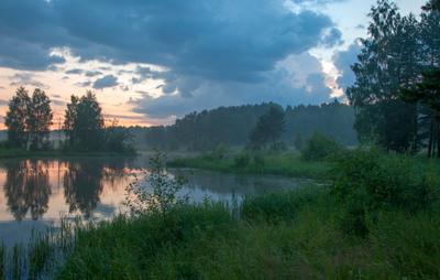 Облака на закате река нейва россия лето закат облака