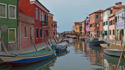 Итальянские впечатления . Бурано 2 Италия Бурано Каналы Лодки Весна
