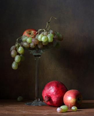 Фрукты фрукты виноград гранат яблоко