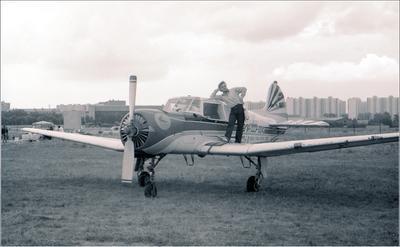 Як-18Т Як-18Т авиайия самолет стоянка Москва ЦА им Фрунзе 1991