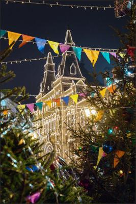 Москва новогодняя (12) Новый год Рождество Москва город