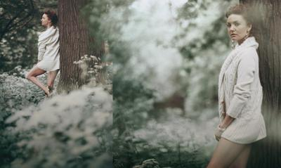 Катя фото, девушка, лес, бокэ, гламур, никон, цейс, утро, портрет, платье