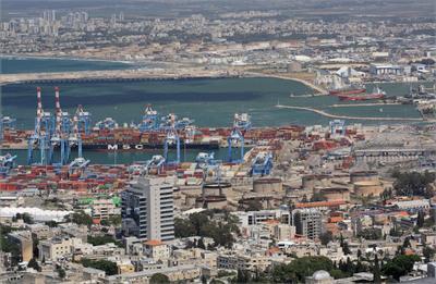 ***Хайфа, часть порта, весна карантин ...))