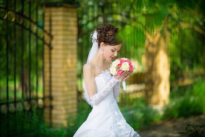 *** свадьба невеста букет парк