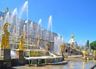 Фонтаны Петергофа городской пейзаж фонтаны Петергоф