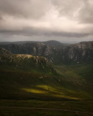 ...Poisoned Glen... ireland donegal poisoned glen mountains nature outdoors landscape mountain scape scenic scenery from above clouds cloudscape dramatic picturesque evening dusk europe spectacular
