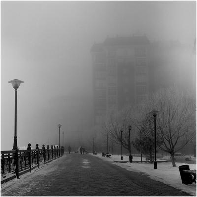 Весенний туман туман