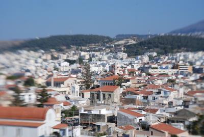 Вид с высоты ретимно крит греция город вид сверху