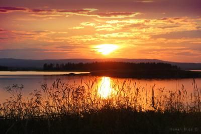 Беоморский вечер. белое море, остров, закат, солнце, природа, кандалакша, беломорье