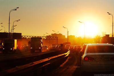 Moscow heat Стою в пробке, зима, хорошо
