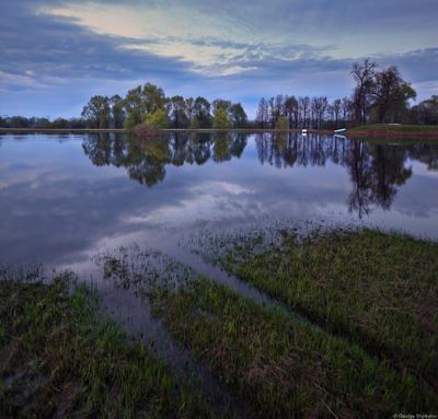 Весенний разлив в средней полосе