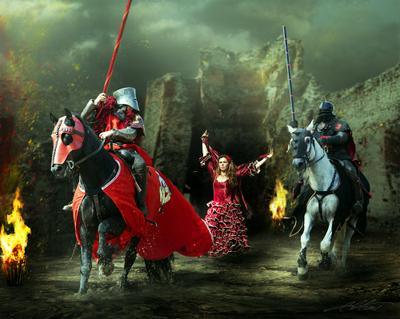 Knight Tales IV Digital Photo Art Horses Knights Eltons Fantasies