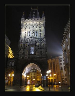 Огни ночной Праги Прага огни ночь