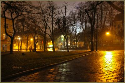 Вечерний город (15) город,вечер,улица,дома,огни