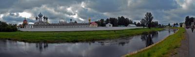 Тихвинский монастырь тихвин монастырь панорама река тихвинка