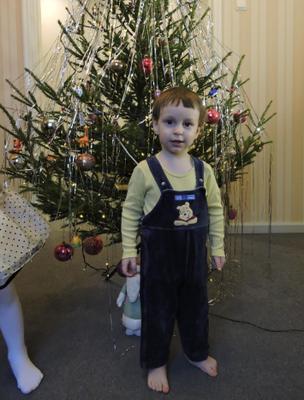 Портрет у новогодней елки