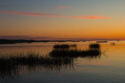 На закате Финский залив лето закат