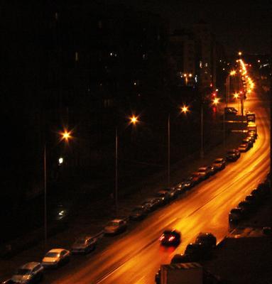 Огни ночного города...