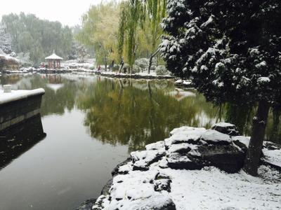 The first snow in Beijing