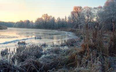 79 декабрь рассвет Река Воронеж изморозь