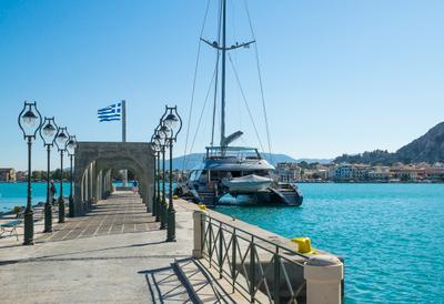 Порт острова Закинтос Греция Закинтос Порт