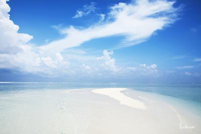 Песчаная коса. Мальдивские острова.