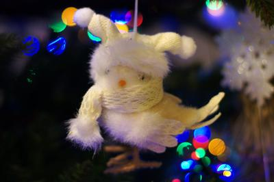 *** новый год елка елечные игрушки птичка
