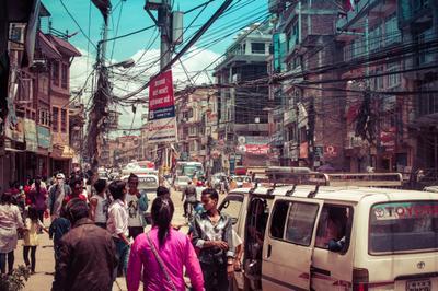 Оживлённые улицы Катманду Непал катманду город улица