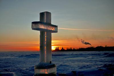 Закат на озере Неро. иордань. крещение. озеро Неро, Ростов Великий.