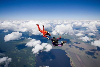 Тяжело в учении... парашют, парашютисты, парашютизм, skydive, skydiving, высота, небо, люди, экстрим, спорт, обучение, AFF, облака