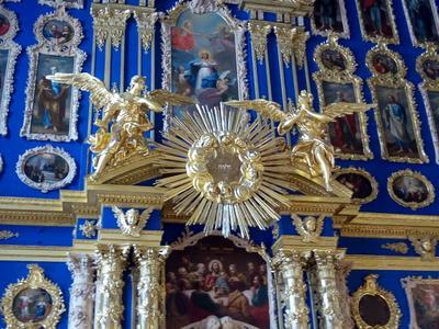 Церковь Воскресения Христова Екатерининского дворца Царское Село Екатерининский дворец церковь
