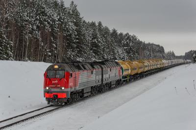 Тепловоз 2ТЭ25КМ-0511 Железная дорога подвижной состав тепловоз Татарстан Набережные Челны