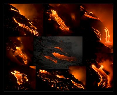Такая разная лава Hawaii Big island лава