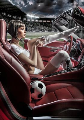 Футбол?! футбол спорт porche car девушка машина