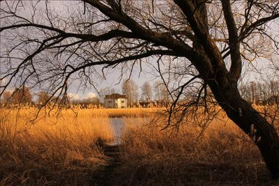 Домик возле деревни, или рыбное место.