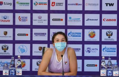 Пресс-конференция... tennis big WTA Petersburg player racket russia ball Alextennis