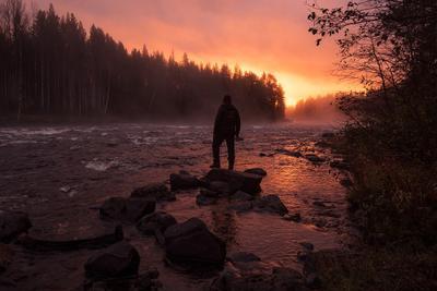 Утром на реке. карелия кереть север пейзаж россия путешествия