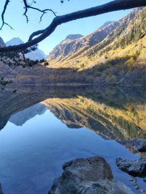 Верхнее Бадукское озеро Бадукские озера Домбай осень