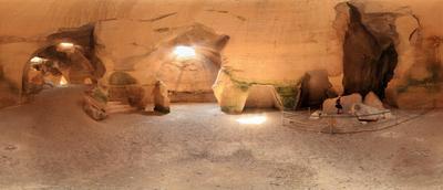 """Пещера """" Колокол """" в Бейт Гуврин . Израиль . Круговая панорама"""