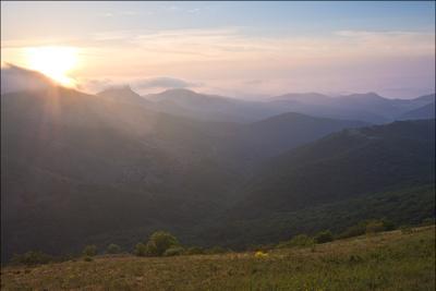 Рассвет на Орта-Сырте рассвет горы