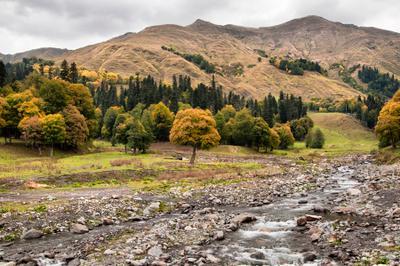 Ауадхара Абхазия Ауадхара горы природа осень