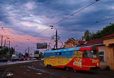 Вечерний трамвайчик
