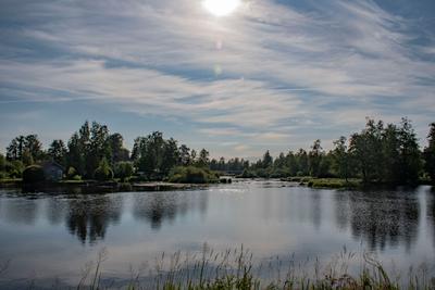 Вуокса река Приозерск Вуокса лето природа небо