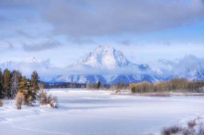 Зимняя сказка. пейзаж горы зима