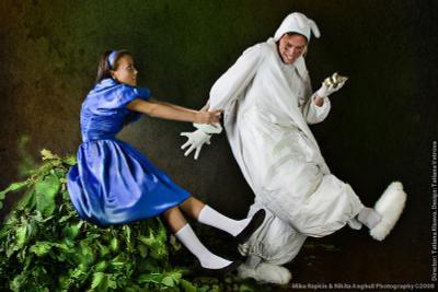 Алиса И Белый Кролик алиса в стране чудес