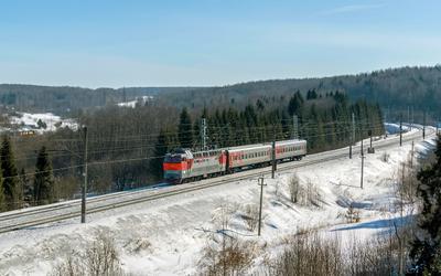 ЧС4Т-240 ЧС4Т-240 сев сжд жд транссиб галич красильниково перегон поезд транспорт