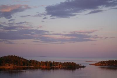 *** озеро закат