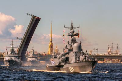 Парад ВМФ в Санкт-Петербурге 2020 СПб Литейный мост Нева Петропавловка парад ВМФ